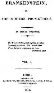 Frankenstein, 1818 edition